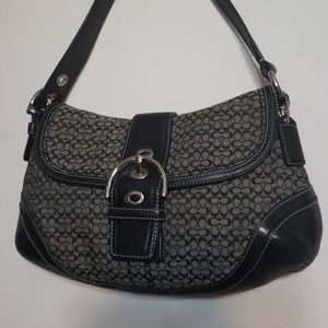 Coach SOHO Signature C Logo Black Gray Handbag